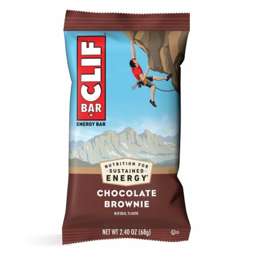Clif Bar Chocolate Brownie Energy Bars Perspective: top
