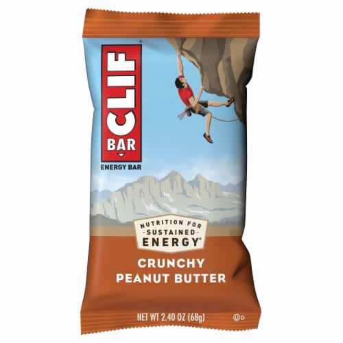 Clif Crunchy Peanut Butter Energy Bars 6 Count Perspective: top