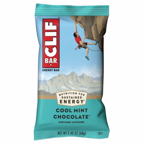 Clif Bar Cool Mint Chocolate Energy Bars Perspective: top