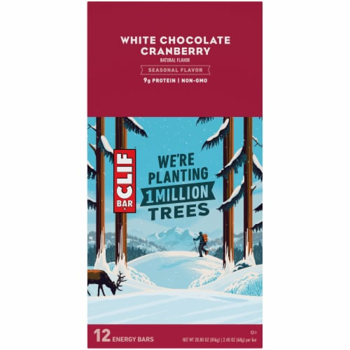 Clif White Chocolate Cranberry Bar Perspective: top