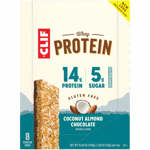 Clif Bar Coconut Almond Chocolate Whey Protein Bars Perspective: top