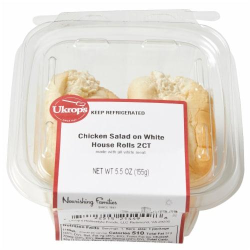 Ukrop's™ Chicken Salad On White House Rolls 2 Count Perspective: top