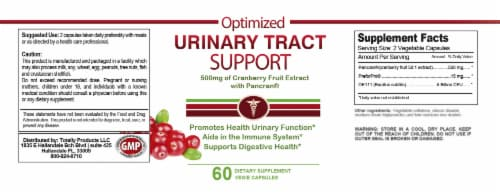 Urinary Tract Support (60 capsules) Perspective: top