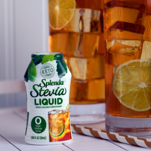 Splenda Liquid Stevia Zero Calorie Sweetener Drops Perspective: top