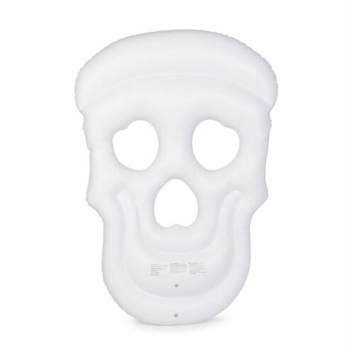 Swimline Multi/White Vinyl Inflatable Sugar Skull Pool Float - Case Of: 1; Perspective: top