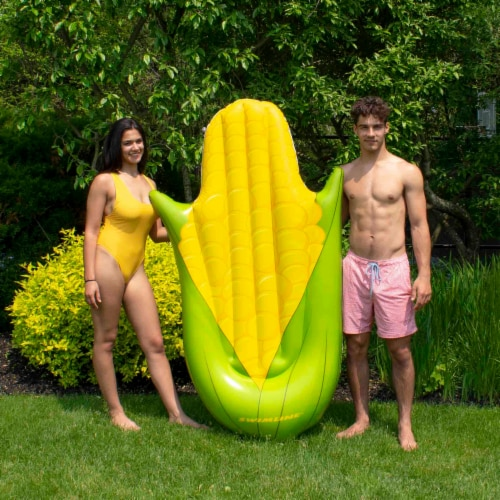 Swimline 90680M Giant Inflatable Corn on the Cob Ride On Swimming Pool Float Perspective: top