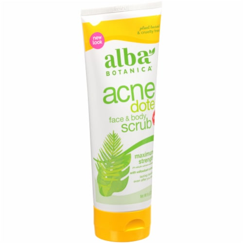 Alba Botanica® Acnedote Face & Body Scrub Perspective: top