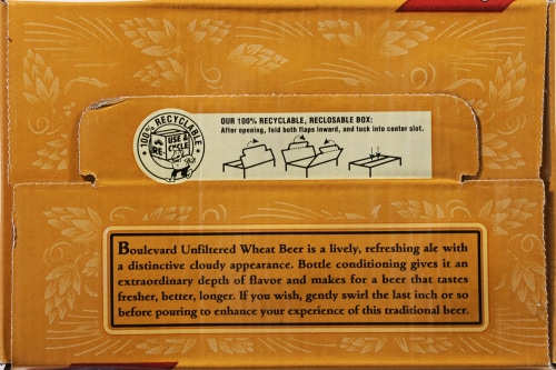 Boulevard Brewing Wheat Company Beer Perspective: top