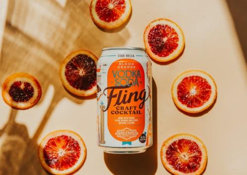 Boulevard Brewing Co. Fling Blood Orange Vodka Soda Craft Cocktail Perspective: top