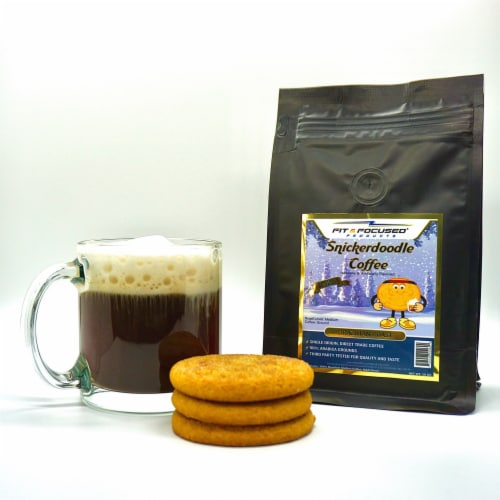 Fit and Focused Snickerdoodle Flavored Ground Coffee Perspective: top