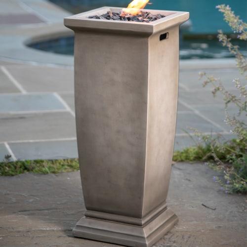 Endless Summer LP Gas Outdoor Fire Column Perspective: top