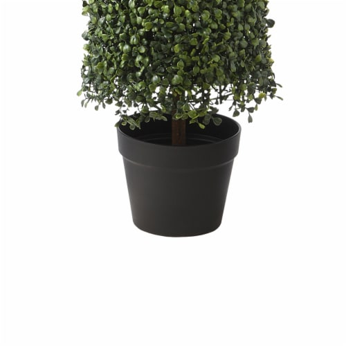 National Tree Company 36 Inch Boxwood Column Topiary Artificial Tree with Pot Perspective: top