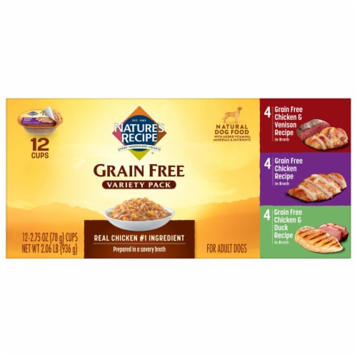Nature's Recipe Grain Free Variety Pack Dog Food 12 Count Perspective: top