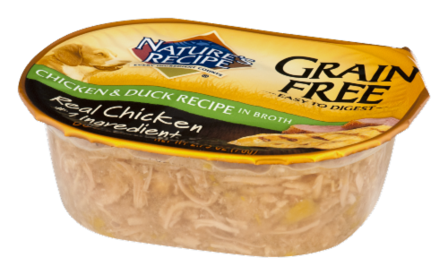 Nature's Recipe Grain Free Chicken & Duck in Broth Wet Dog Food Perspective: top