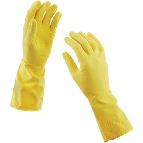 Soft Scrub Medium Premium Fit Latex Rubber Glove 12411-26 Perspective: top