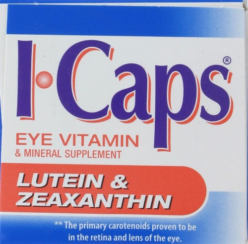 Alcon I-Caps Lutein & Zeaxanthin Supplements Perspective: top