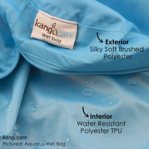 Kanga Care 3D Dimensional Seam Sealed Wet Bag - Frosted Perspective: top