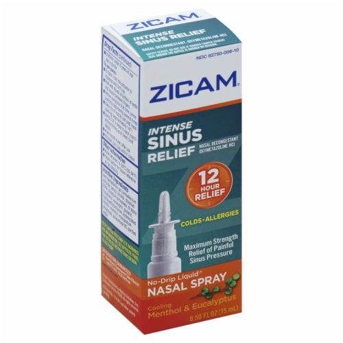 Zicam Intense Sinus Relief Nasal Spray Perspective: top
