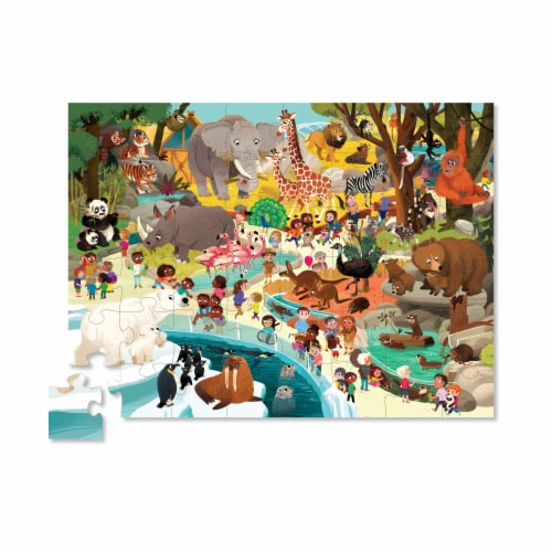 Crocodile Creek® Day At The Zoo Puzzle Perspective: top