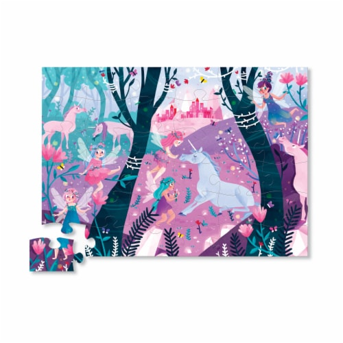 Crocodile Creek® Unicorn Forest Floor Puzzle Perspective: top