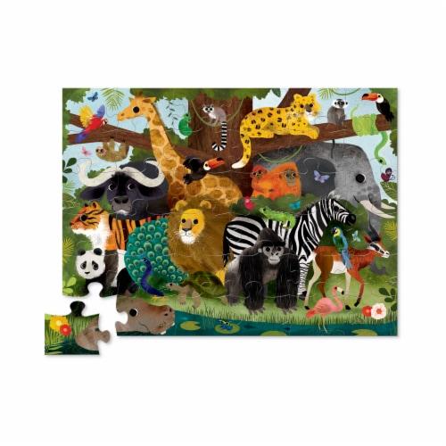 Crocodile Creek® Jungle Friends Floor Puzzle Perspective: top
