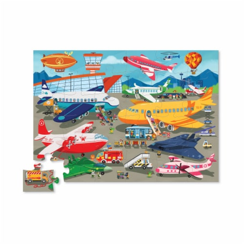 Crocodile Creek® Busy Airport Floor Puzzle Perspective: top