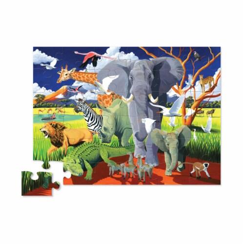 Crocodile Creek® Wild Safari Floor Puzzle Perspective: top