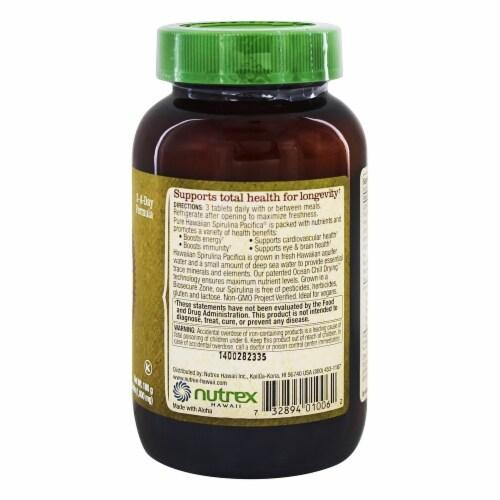 Nutrex Hawaii Pure Hawaiian Spirulina Pacifica 1000 mg., 180 Tablets Perspective: top