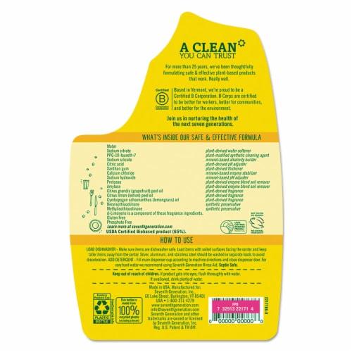 Seventh Generation® Lemon Scent Dishwasher Detergent Gel Perspective: top