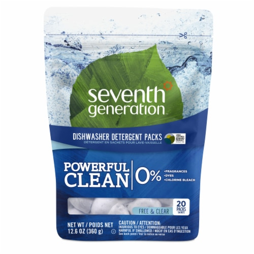 Seventh Generation Free & Clear Dishwasher Detergent Pac Perspective: top