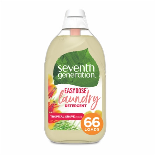 Seventh Generation Concentrated Tropical Liquid Laundry Detergent Perspective: top