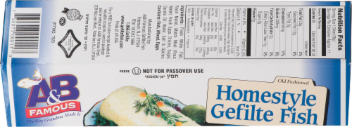 A&B Famous Homestyle Sweet Gefilte Fish Perspective: top