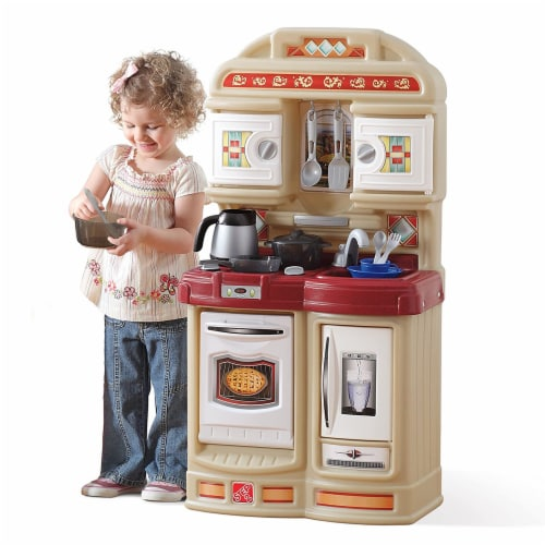 Step2 Cozy Kids Compact Play Pretend Kitchen Playset with 21 Piece Accessory Set Perspective: top