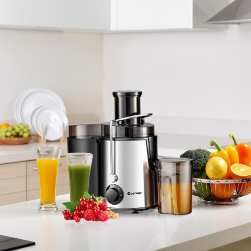 Costway Juicer Machine Centrifugal Juice Extractor Wide Mouth & 2 Speed BPA Free Perspective: top