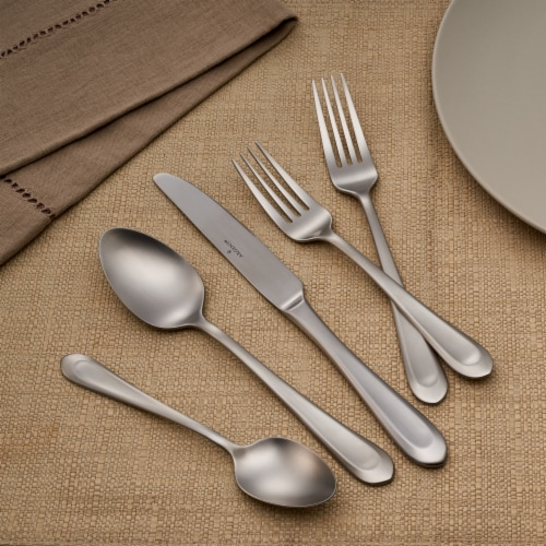 Hampton Forge Bristol Satin Cutlery Set for 12 Perspective: top