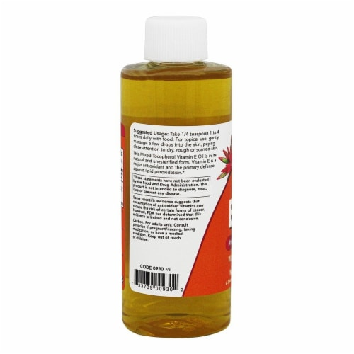 NOW Foods Natural Vitamin E Oil Antioxidant Protection with Mixed Tocopherols, 4 Ounces Perspective: top