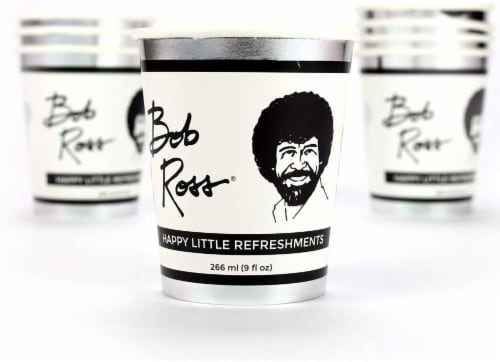 Bob Ross Classic Birthday Party Supplies Pack | 66 Pieces | Serves 8 Guests Perspective: top