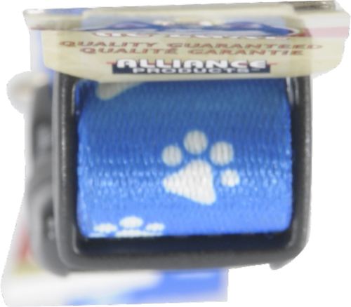 Alliance Large Blue Paw Print Collar Perspective: top