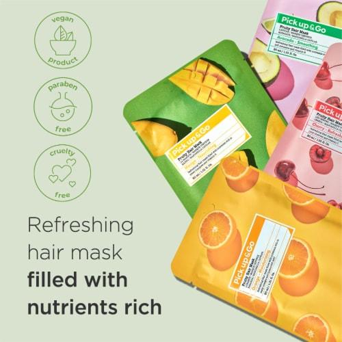 Pick Up & Go 15 Sheets Nourishing Mango Hair Mask Cap Perspective: top