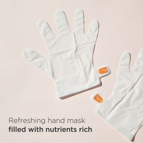 Pick Up & Go 3 Sheets Nourishing Mango Hand Mask Perspective: top