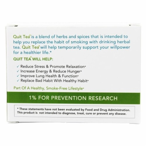 Quit Tea Stop Smoking Aid Tea Bags 20ct Natural Healthy Herbal Supplement Holistic Perspective: top