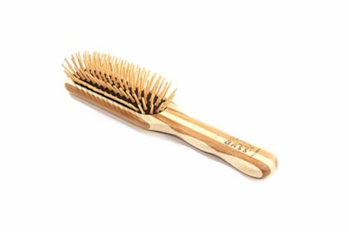 Bass Brushes - Natural Bamboo Pin Brush - Small Perspective: top