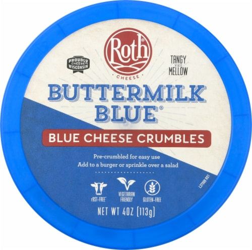 Roth Buttermilk Crumbled Blue Cheese Perspective: top