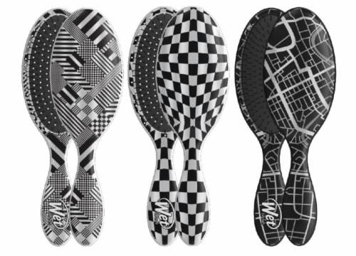 Wet Brush® Original Detangler® Black & White Hipster Brush Perspective: top
