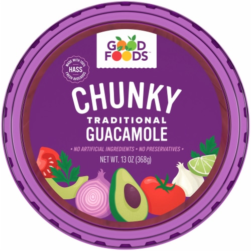 Good Foods Chunky Traditional Guacamole Perspective: top