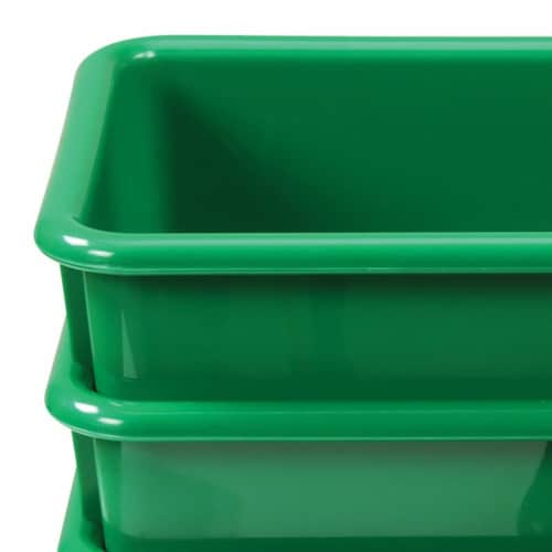 Kaplan Early Learning Green Vibrant Color Storage Bin - Set of 5 Perspective: top
