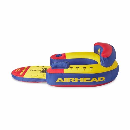 Airhead AHBL-3 Bimini Lounger II Inflatable Pool Lake Lounge Raft, (1 Person) Perspective: top