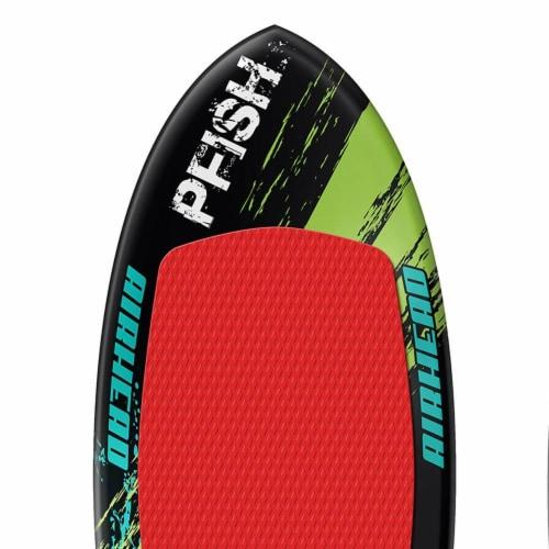 Airhead Pfish Beginner to Advanced 2 Fin Skim Style Water Wakesurf WakeBoard Perspective: top
