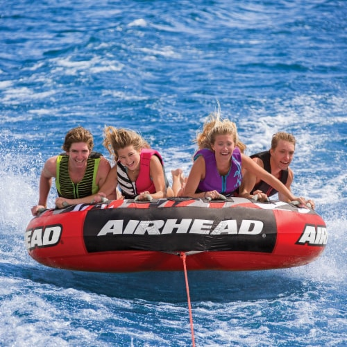"""Airhead AHSSL-42 Slice 100"""" Inflatable Double Rider Towable Lake Tube Water Raft Perspective: top"""
