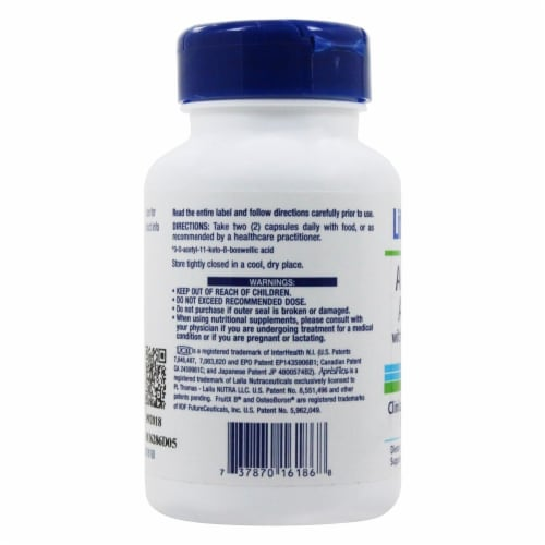 Life Extension Arthromax Advanced with UC-II & ApresFlex, 60 Capsules Perspective: top